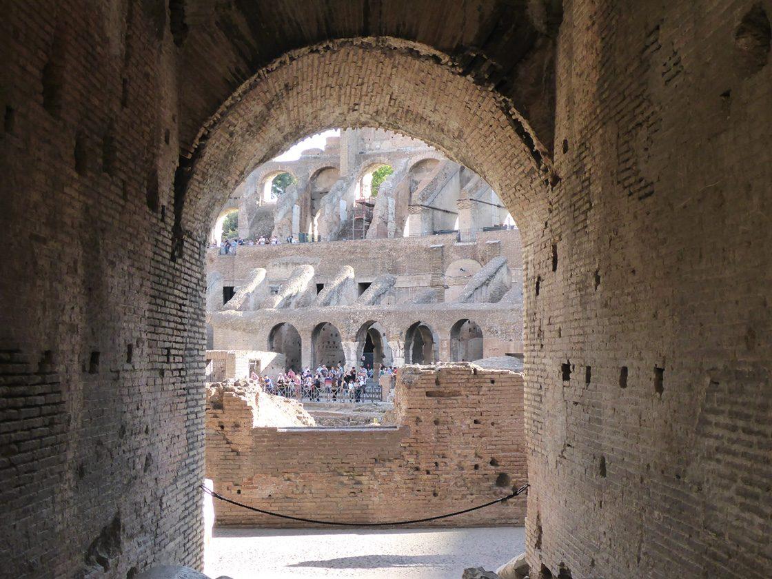 Besuch im Kolosseum, Rom, Italien