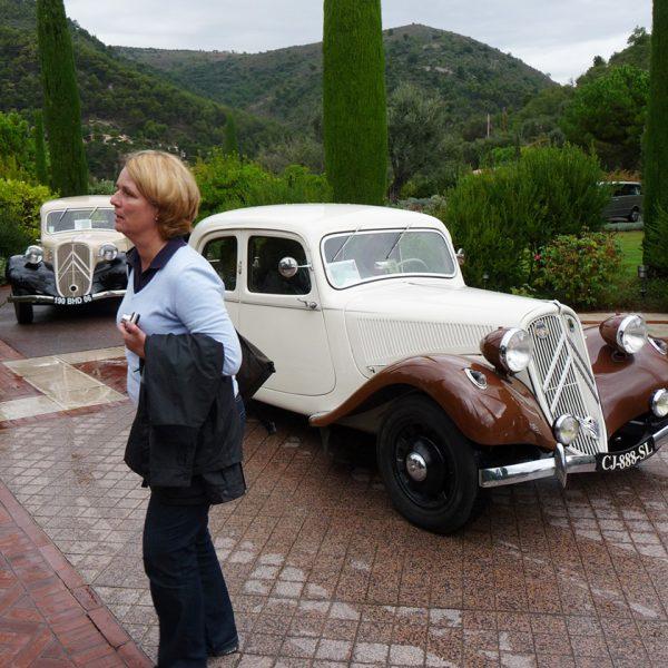 Transfer mit Oldtimern in Saint Paul de Vence, Provence, Côte d'Azur, Frankreich