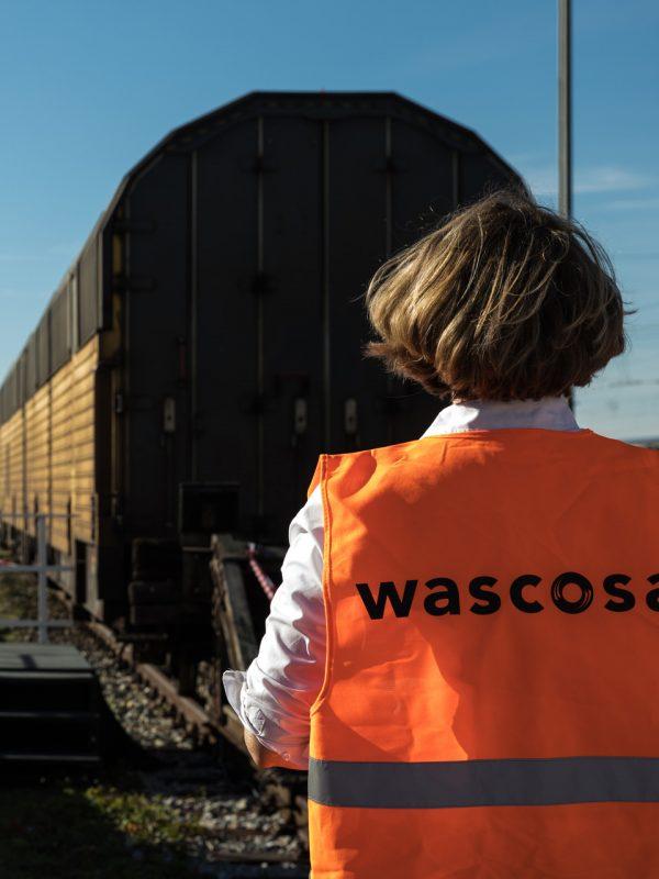 Annette Moog organisiert die Präsentation eines neuen Gefahrgut-Waggons | Agenturleistung für WASCOSA AG, Schweiz